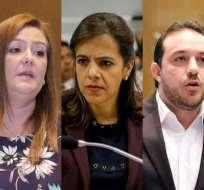 ECUADOR.- Asambleístas Lourdes Cuesta y Roberto Gómez señalan que cuentan con 42 firmas de respaldo. Collage: Ecuavisa
