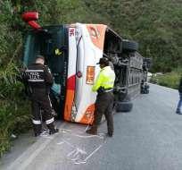 COLTA, Ecuador.- Los siniestros de tránsito ocurrieron este sábado en Guayas, Chimborazo y Azuay. Foto: ECU 911
