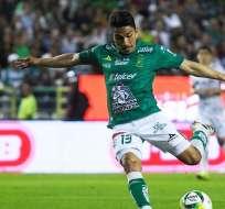 Ángel Mena, jugador de León.
