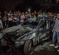 EGIPTO.- Al menos 20 personas murieron cuando un vehículo se impactó contra tres coches. Foto: AFP