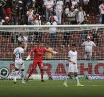 Gabbarini durante el partido del fin de semana. Foto: Twitter LDUQ.