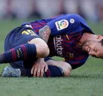 Lionel Messi lesionado.