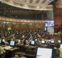 Pleno aprobó moción al retomar segundo debate, suspendido el 1 de agosto de 2019. Foto: Asamblea