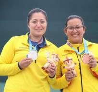 Diana Durango y Marina Pérez lograron la presea de plata y bronce.