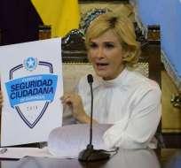 Alcaldesa pide al presidente Moreno firmar un Acuerdo Nacional por Seguridad. Foto: API