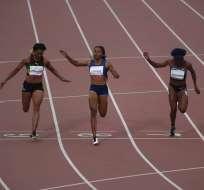Ángela Tenorio terminando la carrera de esta tarde. Foto: Comité Olímpico.