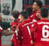 Jugadores del Bayern Munich, celebrando los goles.