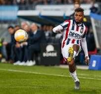 'Chiqui' Palacios en un partido en Holanda.