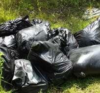 Los restos estaban en fundas negras en el estado de Veracruz. Foto tomada de jornada.com.mx