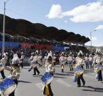 La parada militar de este viernes estuvo presidida por el mandatario Lenín Moreno. Foto: API
