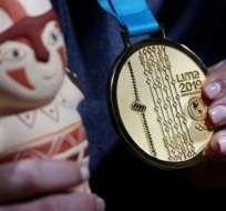 La medalla de oro que se otorga en Lima 2019.