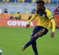 'Chiqui' Palacios con la Sub-20 de Ecuador.
