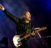Fher Olvera, vocalista de Maná, durante un concierto de la banda mexicana de rock en La Paz, Bolivia.