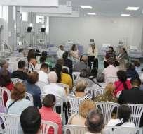 También, Moreno anunció que en 10 días estará disponible el área de terapia intensiva. Foto: @ComunicacionEc