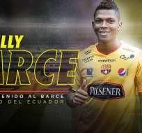 Billy Arce, nuevo jugador de BSC.