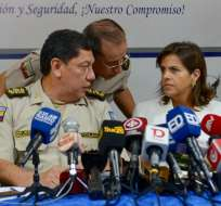 La ministra indicó que el gobierno le da todo su respaldo a la Policía Nacional. Foto: API
