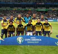 Selección ecuatoriana en la Copa América 2019.