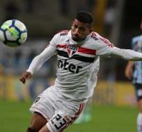 Joao Rojas, jugador del Sao Paulo.