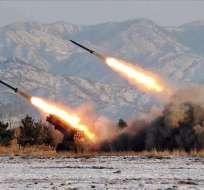 Esta es la sexta serie de disparos por parte de Corea del Norte en lo que va de agosto. Foto: Archivo AFP