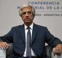 URUGUAY.- En una declaración, Tabaré Vásquez dijo que este diagnóstico lo obligará a internarse. Foto: AFP