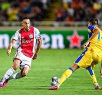 Partido entre Ajax y APOEL. Foto: Twitter Ajax.