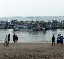 SANTA ELENA, Ecuador.- El puerto de Santa Rosa es uno de los más importantes del país. Foto: Ecuavisa