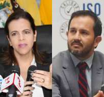 ECUADOR.- María Paula Romo e Iván Granda fueron convocados por Fiscalía este miércoles, pero no acudieron. Collage: Ecuavisa