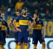Jugadores de Boca Juniors, durante un partido.