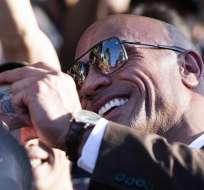 """Johnson obtuvo un gran éxito con """"Jumanji: Welcome to the Jungle"""". Foto: AFP"""