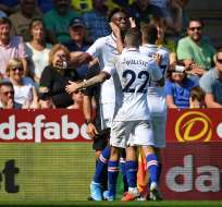 Los 'blues' vencieron 3-2 al Norwich City en condición de visitante. Foto: DANIEL LEAL-OLIVAS / AFP