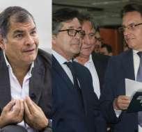 ECUADOR.- Villavicencio y Montúfar señalaron al expresidente por otro préstamo en caso 'Sobornos'. Collage: Ecuavisa