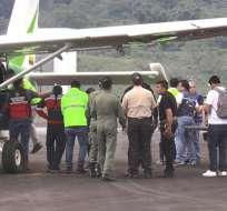 Policías, militares y bomberos continúan con búsqueda de los otros 3 ocupantes. Foto: Captura de video