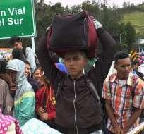 Al menos 10.000 venezolanos lograron cruzar la frontera. Foto: Paola Andrade