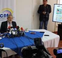QUITO, Ecuador.- El vocal del CNE, Luis Verdesoto, planteó la idea. Foto: Patricio Díaz