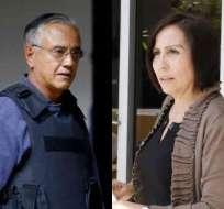 ECUADOR.- Jueza dispuso que la exministra se presente en Guayaquil, y ratificó medida a Alexis Mera. Collage: Ecuavisa