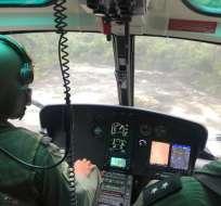 MORONA SANTIAGO.- Por cuatro días se buscaron los cuerpos de los tripulantes de la aeronave siniestrada. Foto: FF.AA.