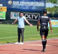 El entrenador de Guayaquil City defendió al adiestrador de Macará. Foto: API