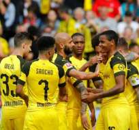 Jugadores del Borussia Dortmund celebrando un gol.