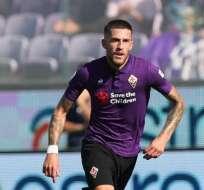 Cristiano Biraghi en su paso por la Fiorentina.