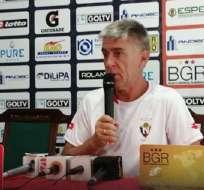 Marcelo Zuleta, entrenador de El Nacional. Foto: Twitter El Nacional.
