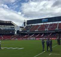 Estadio Rodrigo Paz Delgado. Foto: Twitter Boca Jrs.
