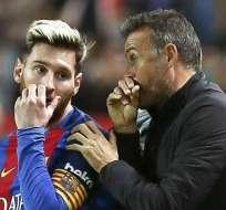 Messi junto a Luis Enrique en el FC Barcelona.