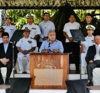 """""""Nos solidarizamos con Colombia, nos solidarizamos con su gobierno"""", dijo Moreno. Foto: API"""
