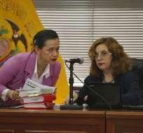 Daniella Camacho (derecha) ordenó que las declaraciones se realicen desde Brasil. Foto: API