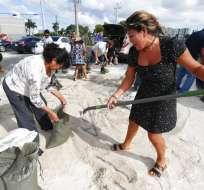Dorian va a las Bahamas como huracán categoría 4. Foto: AP