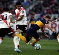 Ambos equipos se verán las caras dentro de un mes por las semifinales de la Libertadores. Foto: ALEJANDRO PAGNI / AFP