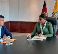 QUITO, Ecuador.- Autoridades de Fiscalía y del Legislativo revisaron avances en la reforma al Código Penal. Foto: Twitter