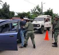 En Mataje se han intensificado los operativos de seguridad. Foto: Fuerzas Armadas.