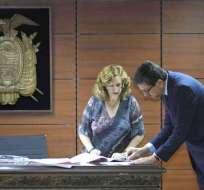 QUITO, Ecuador.- Según Íñigo Salvador, hay indicios de un esquema de corrupción que deriva en el delito de cohecho. Foto: API