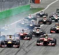 Partida del Gan Premio de Monza.